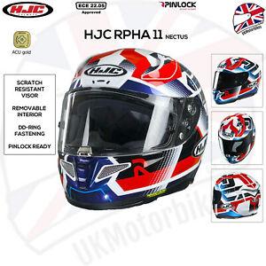 HJC RPHA 11 Nectus MC21 Red White Blue Full Face Motorcycle Bike Sports Helmet