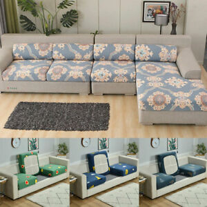 1/2/3 Seater Stretch Sofa Cushion Cover Universal Elastic Non-Slip Protector