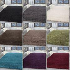 Shaggy Poils longs Tapis hauteur du 5 cm salon différentes couleurs & tailles