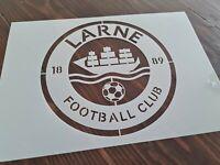 Larne Football Club FC Logo Stencil Airbrush Paint Reusable Template Badge A4