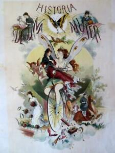 Historia De Una Mujer Story of A Woman 50 Chromolithos Captivating Moral Tale