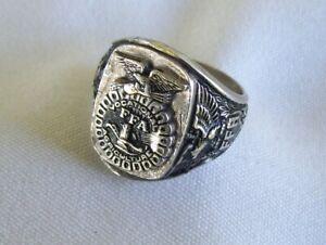Vintage Sterling Silver 925 FFA Future Farmers of America Ring sz 11 wt 17.4g