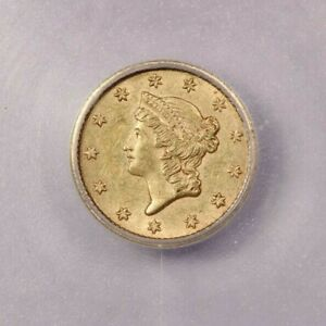 1853-P 1853 Liberty Head Gold Dollar ICG MS60 Details