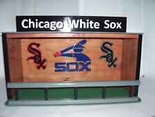 Chicago White Sox Bobble Head Display Case with Green Felt Floor stained Cherry