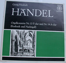 """HÄNDEL ORGELKONZERTE KUKUCK NACHTIGALL REINHARDT 12"""" LP (g522)"""