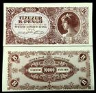 Hungary 10,000,000,000,000,000 Pengo 1946 P-132 aUNC Banknote World Paper Money