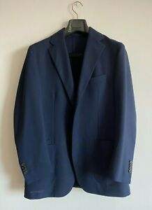 Drake's Jacket / Navy Fresco Wool / Size 40 (50)