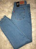Womens Levis 501s 34 16/18 Skinny Frayed Hem High Waist Mom Jeans Big E Premium