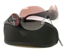 Authentic Emporio Armani EA 4022B 5144/ 8D 125 2N Black & Maroon Shield Sunglass
