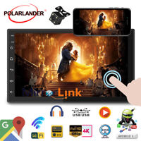 7''2 Din GPS Android Car Radio Airplay+Camera Wifi iOS Mirror Link BT Touch FM