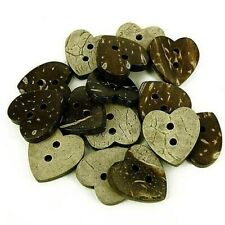 25 Round Cream Coconut Shell Hollowed design Buttons 15mm Sewing Scrapbook