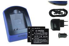 2 Akkus + USB-Ladegerät DB-70 DB70 für Ricoh CX1, CX2, R8, R10 / Caplio R6, R7