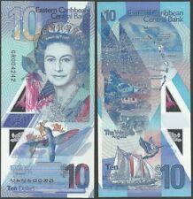EAST CARIBBEAN 10 DOLLARS 2019 PNEW B241 POLYMER QE II UNC BANKNOTE @ EBS