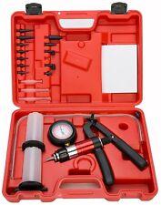 21 PC Hand Held Vacuum and Pressure Pump Tester Tool Brake Fluid Bleeder Kit