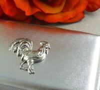 Cigarette Case, Money Holder, Rooster Gothic Steampunk Silver Color