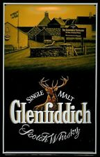 Metal Sign Glenfiddich Portrait Stag Scotch Whisky Sign Advertising Sign