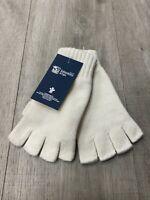 100% Cashmere Fingerless Gloves | Johnstons of Elgin | Made in Scotland | Ecru
