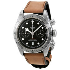 Tudor Heritage Black Bay Automatic Mens Brown Leather Watch 79350-0002