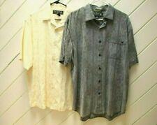 Lot: 2 NAT NAST Luxury Originals Paisley Shirts_Sz.L_1 Gray & 1 Ivory/Beige