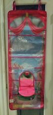 Girls Toy Trainer Play &Put Away Princess Castle Fold N Go Hanging Toy Organizer