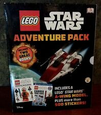 Lego Star Wars Adventure Pack - 2 books, 500+ stickers, A-wing model NEW in wrap