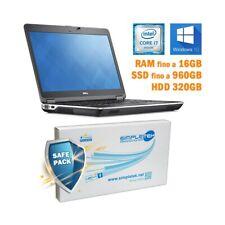 """COMPUTER NOTEBOOK DELL LATITUDE E6440 I7 4600M 14"""" HDMI WINDOWS 10 PRO GRADO B-"""