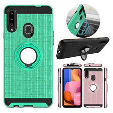 For Samsung Galaxy A20S Hybrid Kickstand Rugged Hard Case Cover+Screen Protector