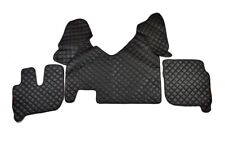 Schwarz Eco Leder Türverkleidung /& Armaturenbrett Matten für Scania R//P//G Rot