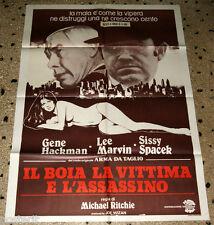 manifesto 2F orig. IL BOIA LA VITTIMA E L'ASSASSINO Gene Hackman Lee Marvin 1980