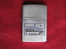 Zippo Lighter 1978 Advertising Micale Construction Inc.