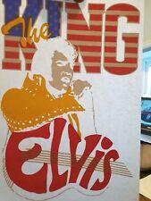 Vintage NOS 1980's Elvis Presley Band Tour T-Shirt Transfer Memorabilia 052