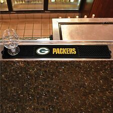 "Green Bay Packers 3.25"" x 24"" Bar Drink Mat - Man Cave, Bar, Game Room"
