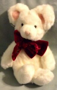 "6"" SEATED HEIGHT WHITE MOUSE BY RUSS TIC TOC NWT # 101334 NWT"