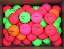 New listing 40 AAAA +/- Titleist Matte TruFeel and Velocity Golf Balls - Assorted Colors