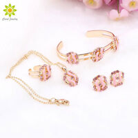 Best Gift 18K Gold Plated Necklace Earring Set /Children's Gift Jewelry For Kid