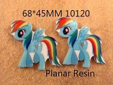 5 X 60MM De Mi Pequeño Pony Rainbow Dash láser de corte de resina de reverso plano arcos Diademas