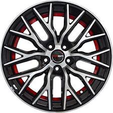 4 GWG Wheels 18 inch Black Red Undercut FLARE Rims fits FORD FOCUS SEDAN 2012-18
