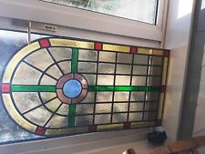 More details for antique leaded glass panel