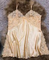 Andra lingerie yellow Camisole Top sleepwear nightwear size 2 /44