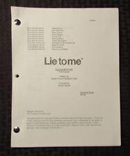 2009 LIE TO ME TV Show Script Episode #2APW06 Fold Equity FVF 47 pgs 9/9/09