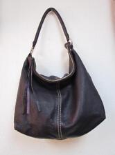 ROOTS Canada Purple Pebbled Leather Large Zipper Top Hobo Shoulder Bag Purse