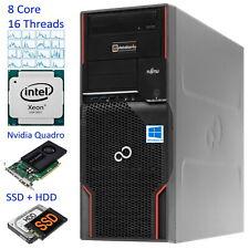 8-Core Fujitsu Celsius M720 Xeon E5-2670 Ram 32GB HDD 500GB SSD 256GB Quad K4000