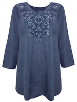 Catherines tunic top blouse plus size 16/18 20/22 24/26 28/30 32/34 blue