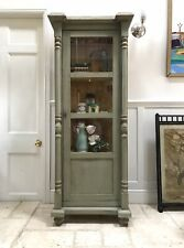 Antique Pine Gustavian Style Shop Kitchen Bathroom Glazed Display Cabinet