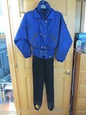 NILS Vintage One Piece Schoeller WB400 Ski Snow Suit Sz 6 + Blue Black Headband