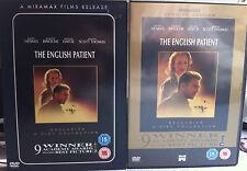 Ralph Fiennes LE ANGLAIS PATIENT Oscar Lauréat Rare 2-Disc ROYAUME-UNI DVD w/