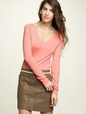 NWT $48 Gap V-neck Wool Blend Lightweight Stitch Salmon Sweater XS Extra Small