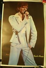 """Rare Vintage 1970's David Bowie 23 X 35"""" Poster On Stage Concert"""
