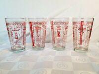 Southern Comfort Bartenders Mixed Drink Recipe Barware Glass SOCO Mixer Set of 4