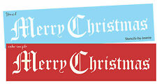 Lg Holiday Stencil Merry Christmas Vintage font Shabby Cottage Craft Art Signs